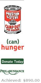 WMMR- Preston & Steve Camp Out For Hunger